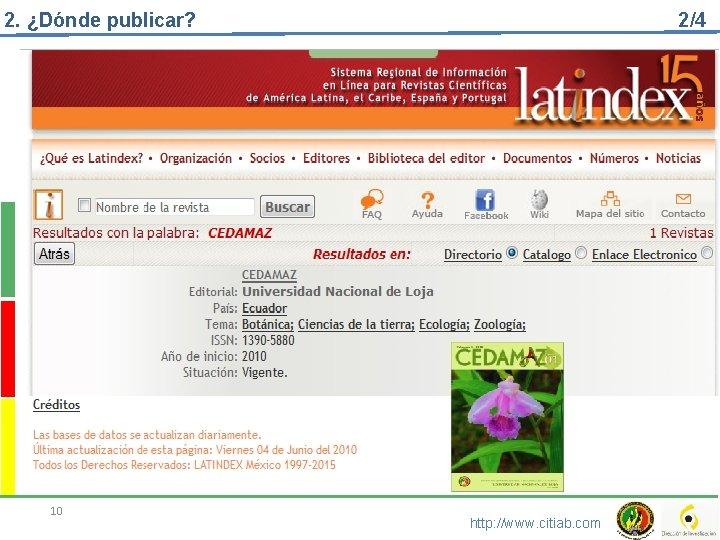 2. ¿Dónde publicar? 10 2/4 http: //www. citiab. com