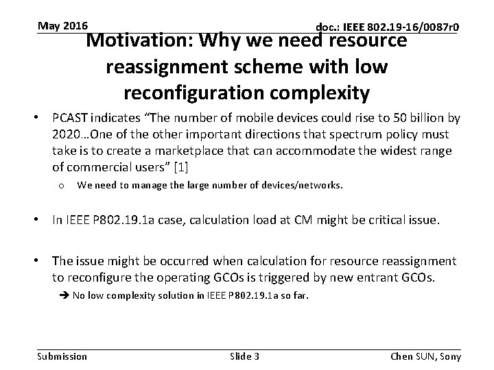 May 2016 doc. : IEEE 802. 19 -16/0087 r 0 Motivation: Why we need