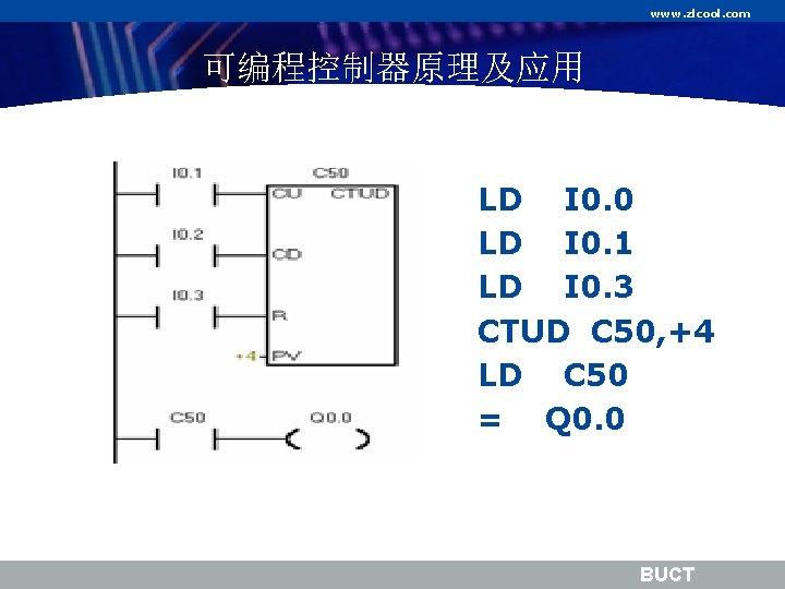 www. zlcool. com 可编程控制器原理及应用 LD I 0. 0 LD I 0. 1 LD I