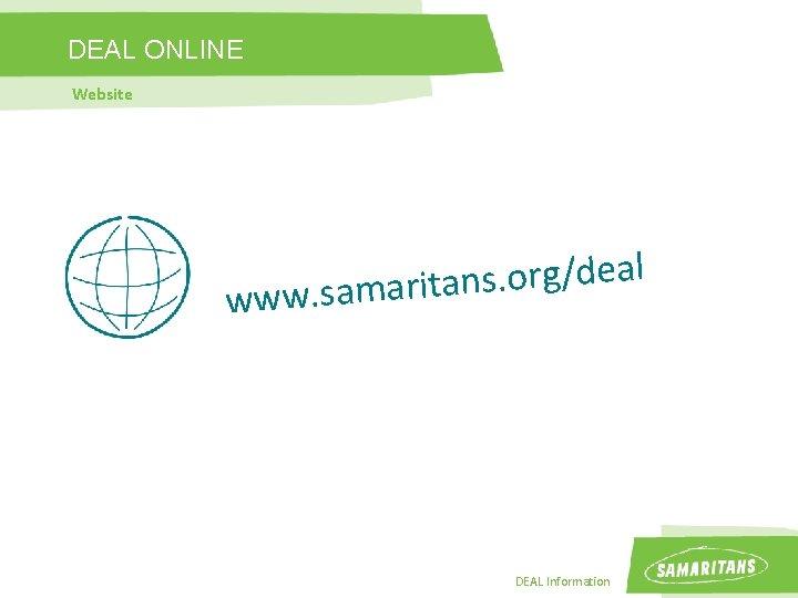 DEAL ONLINE Website l a e d / g r o. s n a
