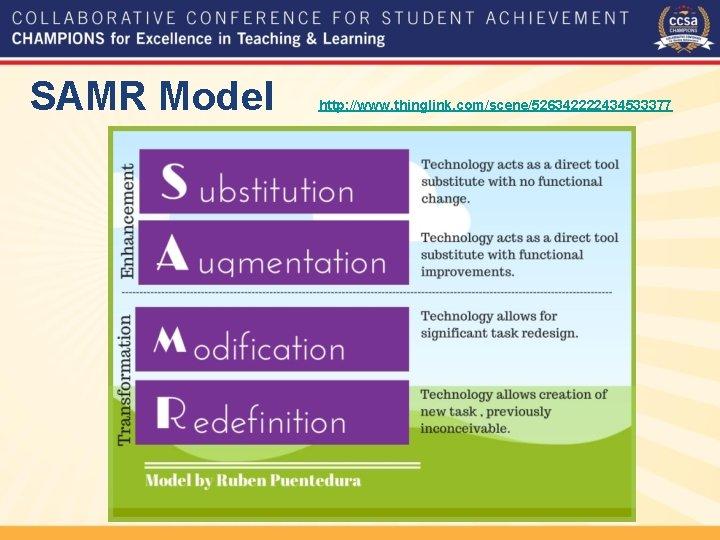 SAMR Model http: //www. thinglink. com/scene/526342222434533377