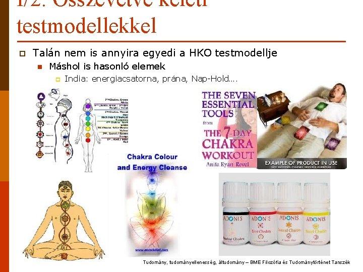I/2. Összevetve keleti testmodellekkel p Talán nem is annyira egyedi a HKO testmodellje n