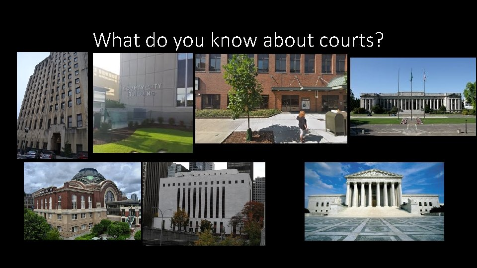What do you know about courts?
