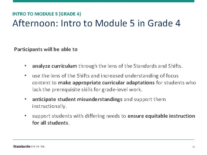 INTRO TO MODULE 5 (GRADE 4) Afternoon: Intro to Module 5 in Grade 4
