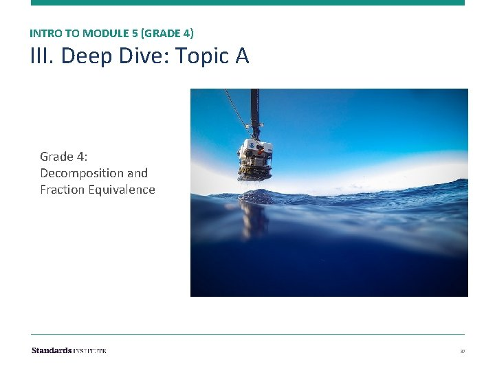 INTRO TO MODULE 5 (GRADE 4) III. Deep Dive: Topic A Grade 4: .