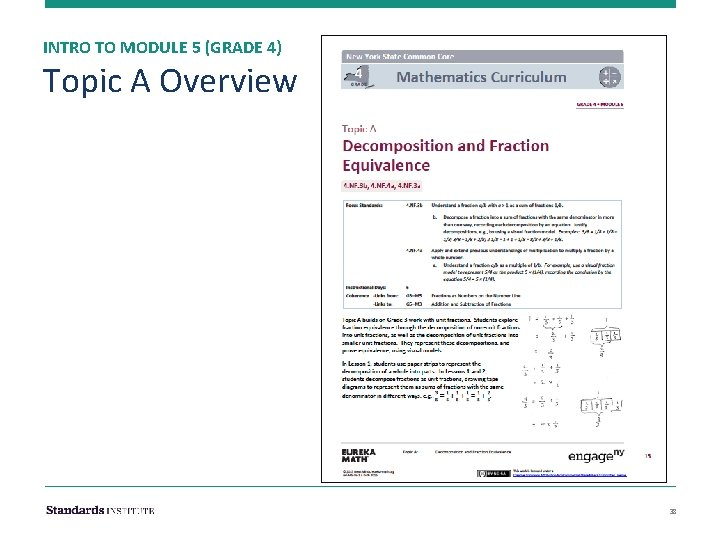 INTRO TO MODULE 5 (GRADE 4) Topic A Overview 38