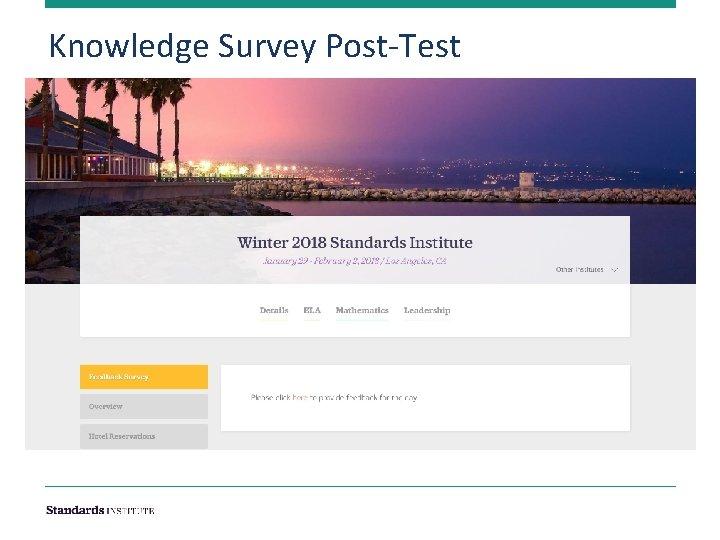 Knowledge Survey Post-Test