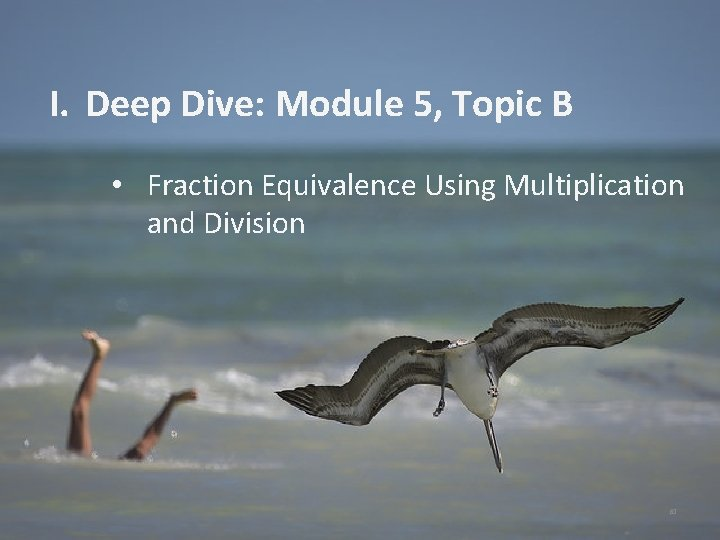 I. Deep Dive: Module 5, Topic B • Fraction Equivalence Using Multiplication and Division