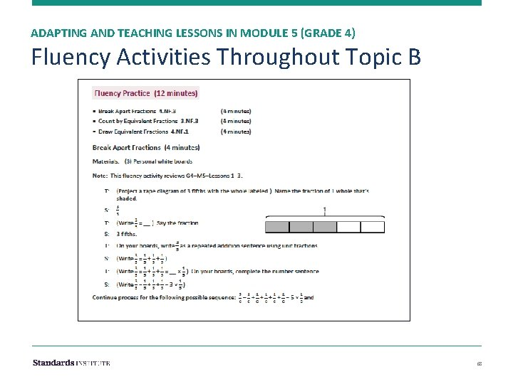 ADAPTING AND TEACHING LESSONS IN MODULE 5 (GRADE 4) Fluency Activities Throughout Topic B
