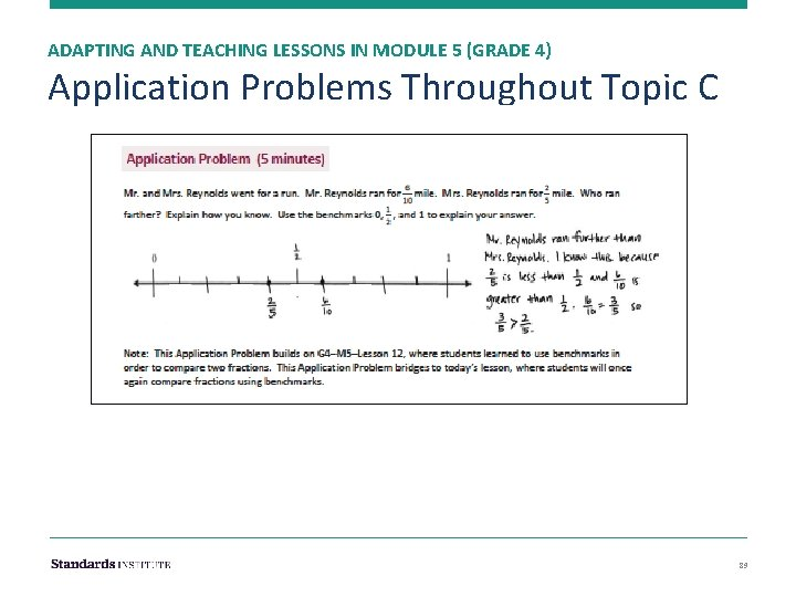 ADAPTING AND TEACHING LESSONS IN MODULE 5 (GRADE 4) Application Problems Throughout Topic C