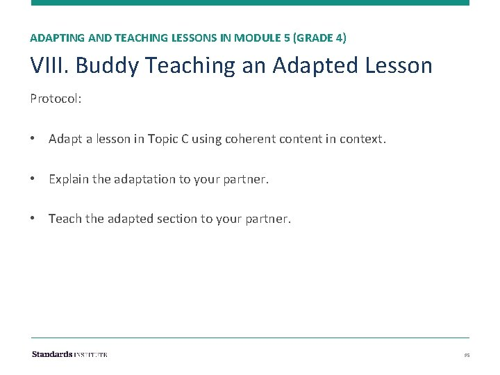 ADAPTING AND TEACHING LESSONS IN MODULE 5 (GRADE 4) VIII. Buddy Teaching an Adapted