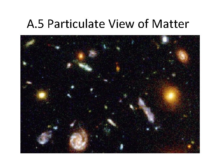 A. 5 Particulate View of Matter