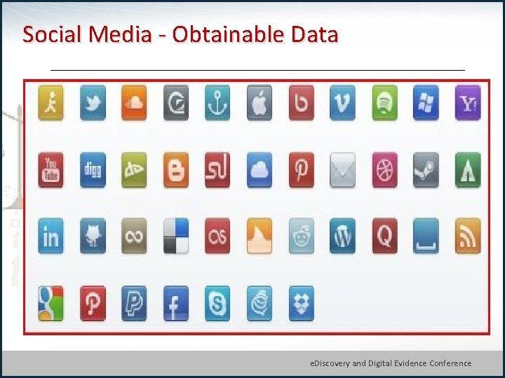 Social Media - Obtainable Data © Michael Arkfeld 2013 e. Discovery and Digital Evidence