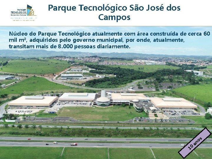 Parque Tecnológico São José dos Campos Núcleo do Parque Tecnológico atualmente com área construída