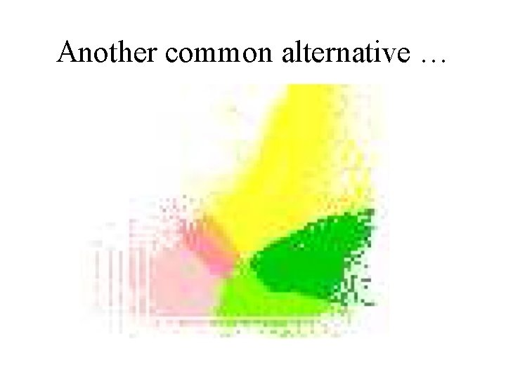 Another common alternative …