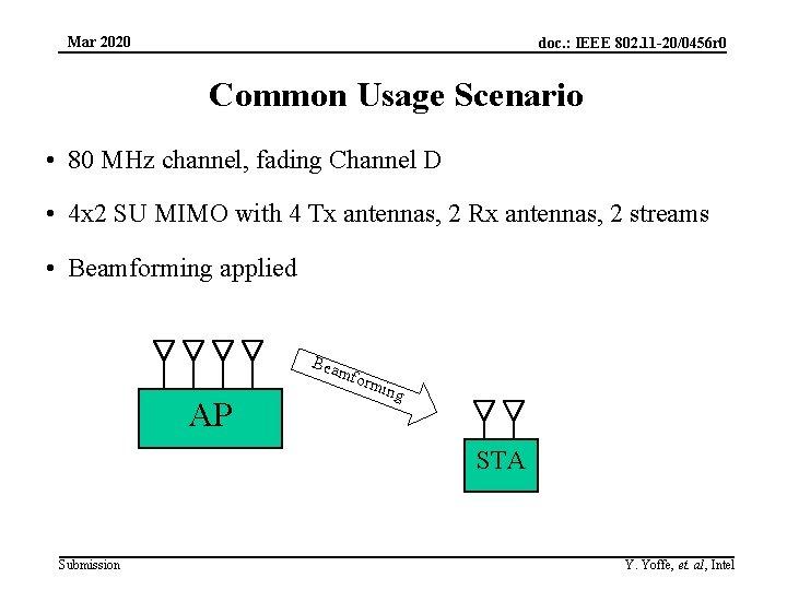 Mar 2020 doc. : IEEE 802. 11 -20/0456 r 0 Common Usage Scenario •