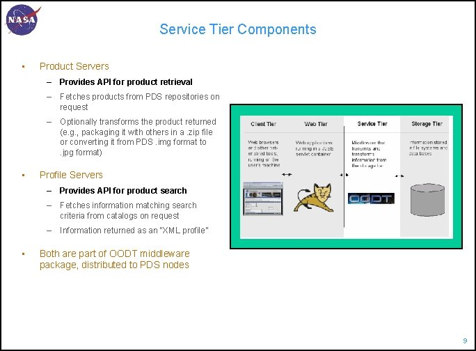 Service Tier Components • Product Servers – Provides API for product retrieval – Fetches