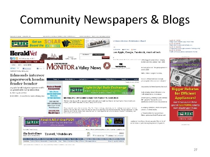 Community Newspapers & Blogs 27