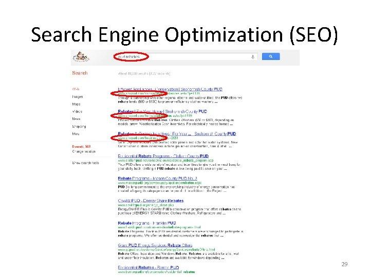 Search Engine Optimization (SEO) 29