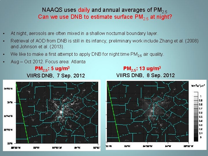 NAAQS uses daily and annual averages of PM 2. 5 Can we use DNB