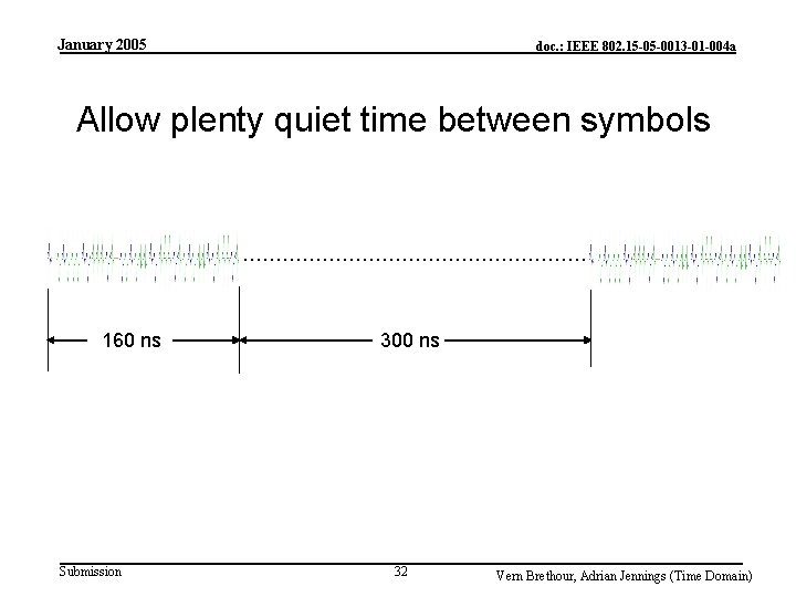 January 2005 doc. : IEEE 802. 15 -05 -0013 -01 -004 a Allow plenty