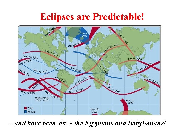 Eclipses are Predictable! …and have been since the Egyptians and Babylonians!