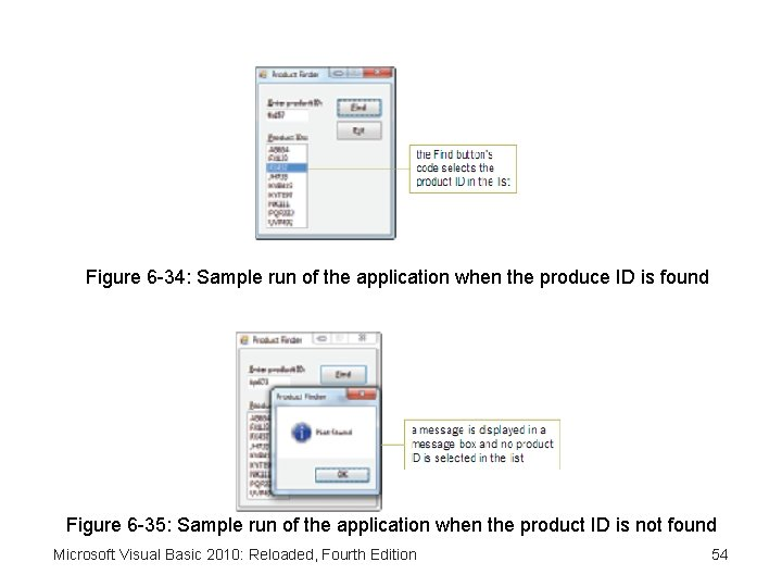Figure 6 -34: Sample run of the application when the produce ID is found