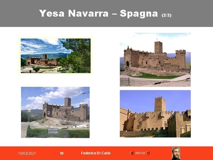 Yesa Navarra – Spagna 10/03/2021 19 Federico Di Carlo INDICE (2/2)