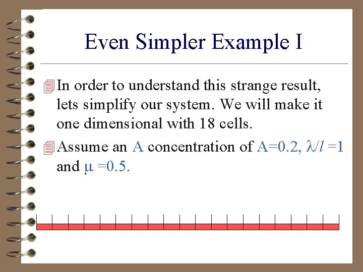 Even Simpler Example I 4 In order to understand this strange result, lets simplify
