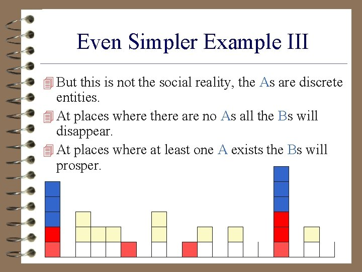 Even Simpler Example III 4 But this is not the social reality, the As