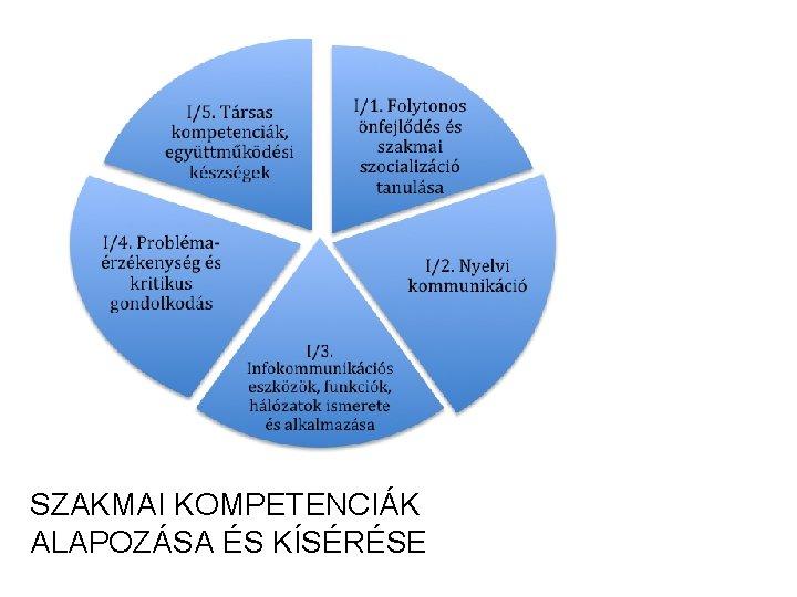 I. SZAKMAI KOMPETENCIÁK MŰKÖDÉSÉT ALAPOZÓ ÉS KÍSÉRŐ ÁLTALÁNOS KOMPETENCIÁK KOMPLEX KOMPETENCIÁK, JELLEMZŐJÜK A MULTIFUNKCIONALITÁS