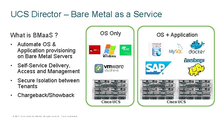 UCS Director – Bare Metal as a Service What is BMaa. S ? OS