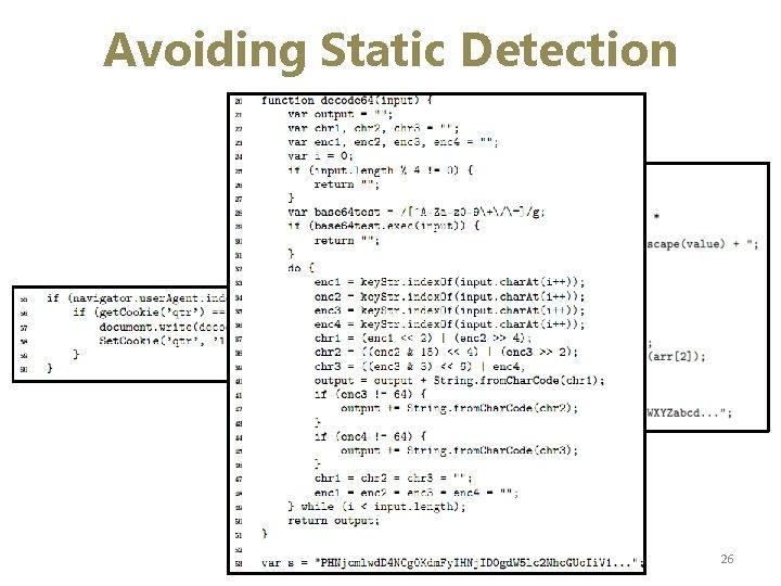 Avoiding Static Detection 26