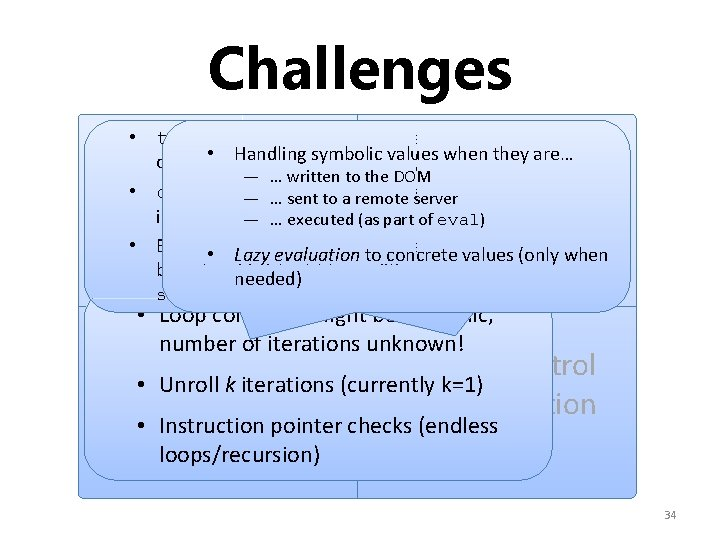 Challenges • try-blocks regularly used to test availability • Handling symbolic values when they