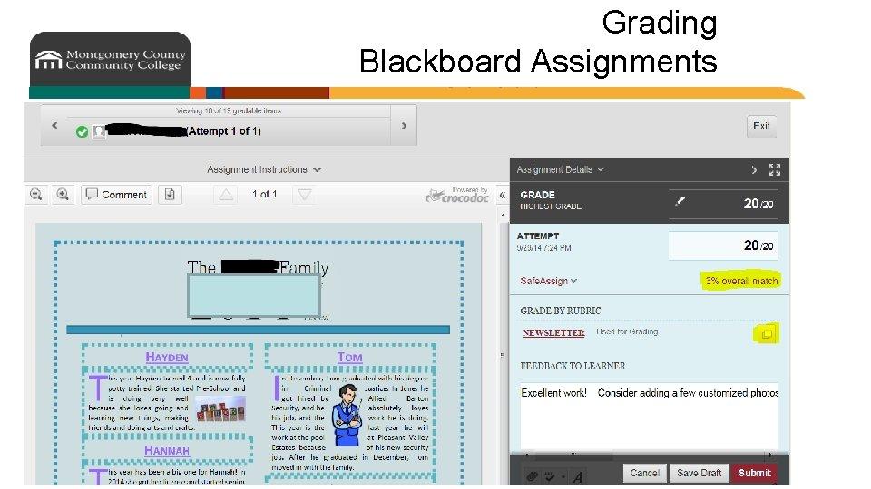 Grading Blackboard Assignments