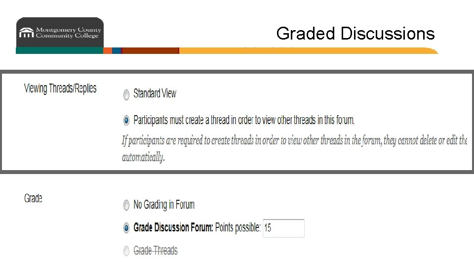 Graded Discussions