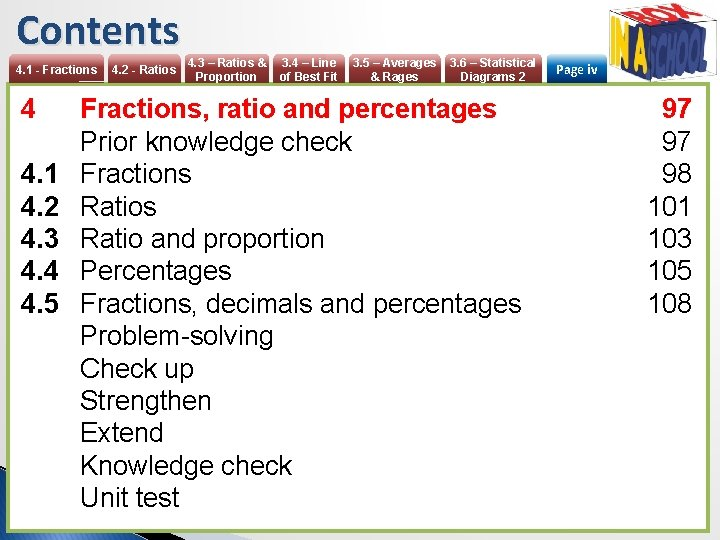 Contents 4. 1 - Fractions 4 4. 1 4. 2 4. 3 4. 4