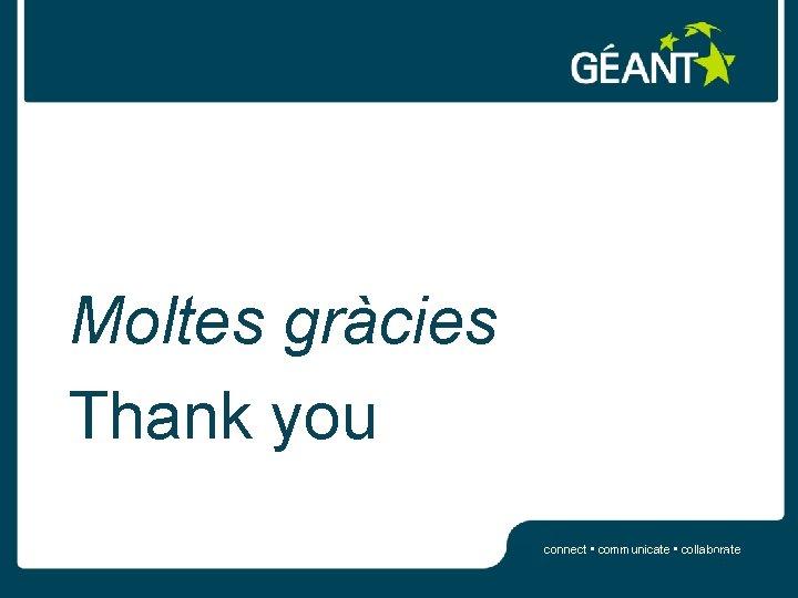 Moltes gràcies Thank you connect • communicate • collaborate 26