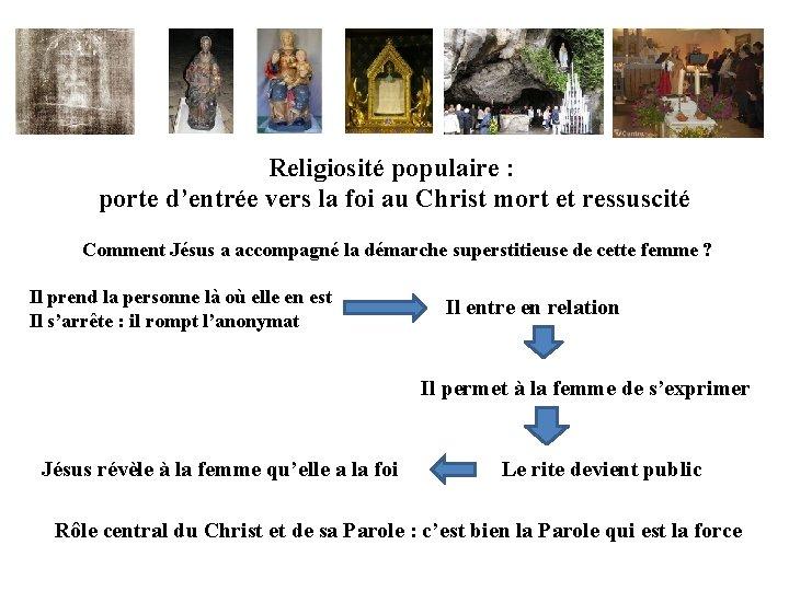 Religiosité populaire : porte d'entrée vers la foi au Christ mort et ressuscité Comment