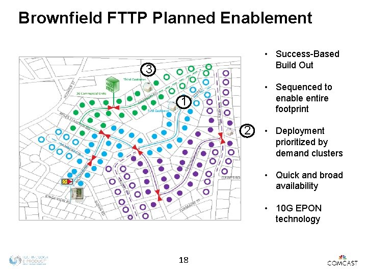 Brownfield FTTP Planned Enablement • Success-Based Build Out 3 • Sequenced to enable entire