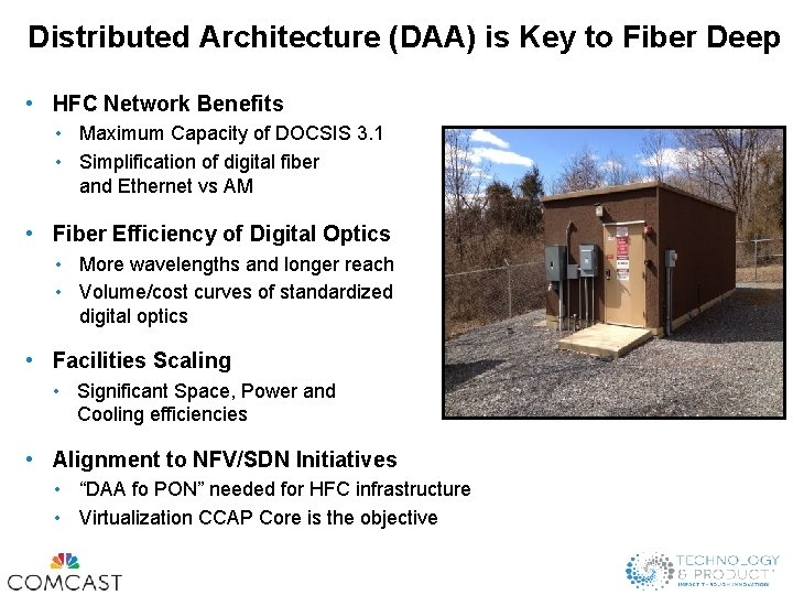 Distributed Architecture (DAA) is Key to Fiber Deep • HFC Network Benefits • Maximum