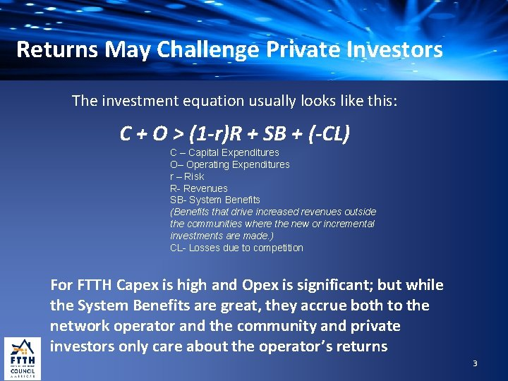 Returns May Challenge Private Investors The investment equation usually looks like this: C +