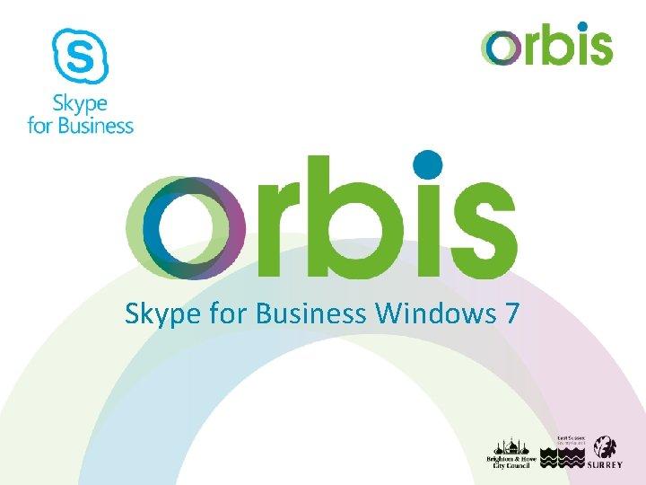Skype for Business Windows 7