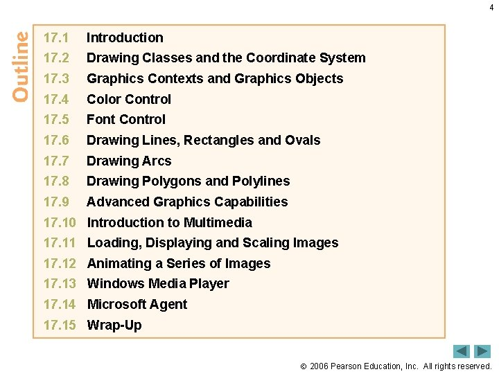 4 17. 1 Introduction 17. 2 Drawing Classes and the Coordinate System 17. 3
