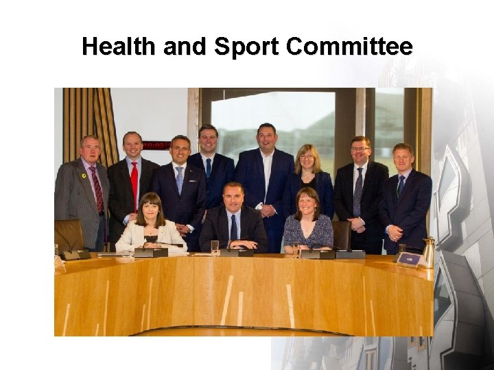 Health and Sport Committee