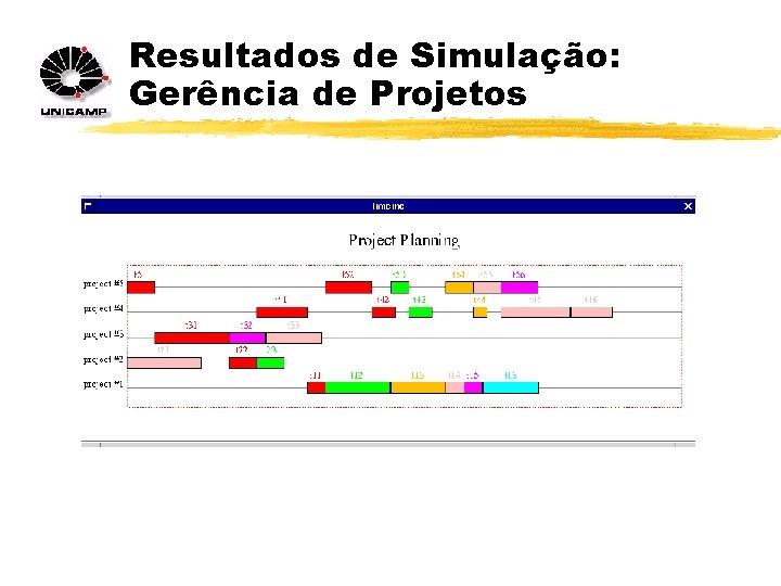 Resultados de Simulação: Gerência de Projetos