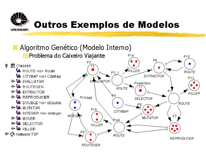 Outros Exemplos de Modelos z Algoritmo Genético (Modelo Interno) y Problema do Caixeiro Viajante