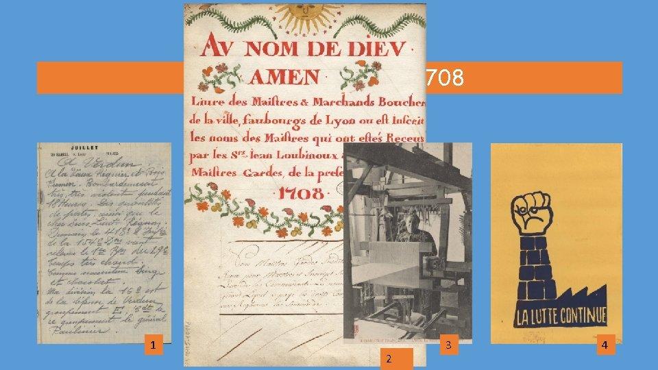 Le document date de 1708 1 2 3 4