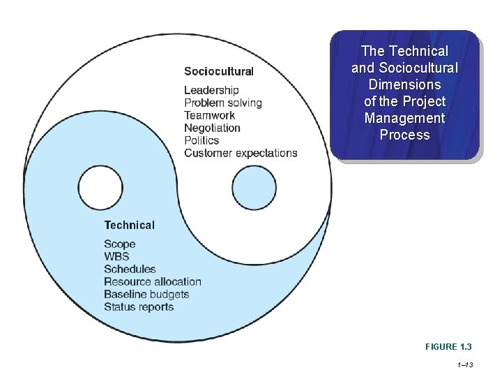 The Technical and Sociocultural Dimensions of the Project Management Process FIGURE 1. 3 1–
