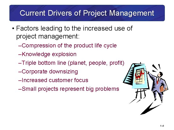 Current Drivers of Project Management • Factors leading to the increased use of project